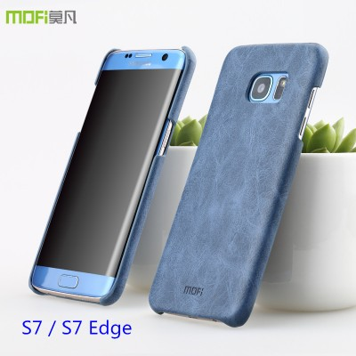 Phone Cases For Samsung For Samsung galaxy s7 edge case galaxy s7 case cover PU leather MOFi original for samsung s7 edge cover accessories back hard