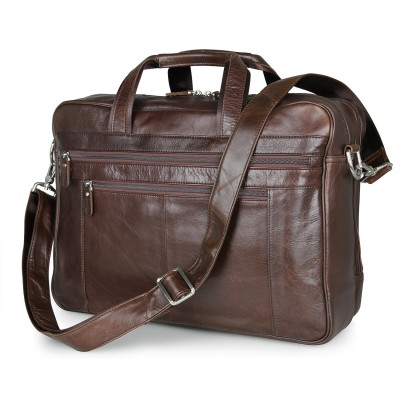 2019 High Quality Famous Brand Men Dress Briefcase Messenger Genuine Leather Business Office 17inch Laptop Bag Lawyer Handbag
