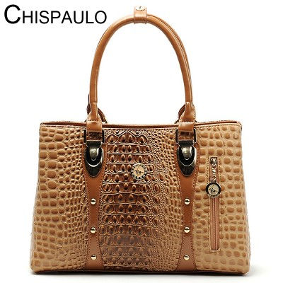Women Bag 2019 Bag Handbags Women Famous Brands Luxury Designer Handbag High Quality Crocodile Leather Tote Hand Bag Ladies B051