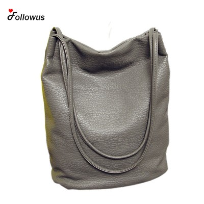 2019 Designer Women Leather Handbags Black Bucket Shoulder Bags Ladies Crossbody Bags Large Capacity Ladies Shopping Bag Bolsa