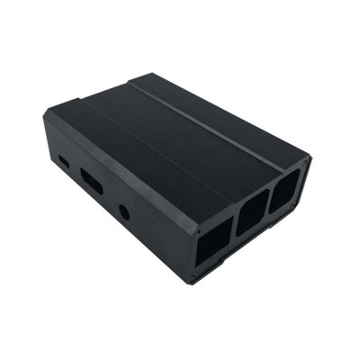Raspberry Pi 3 Model B Black Aluminum Case Sliver Aluminum Enclosure Box Cover Shell for RPI 3