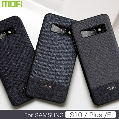 Mofi Fabric Phone Case For Samsung Galaxy S10 Samsung Galaxy S10 E Samsung Galaxy S10 Plus Case Cover Business Style Samsung Phone Case