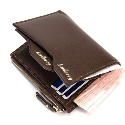 New Originality Designer Mens Wallets Soft PU Cross Vertical Black Brown Purses Wallet with ID Cards Holder