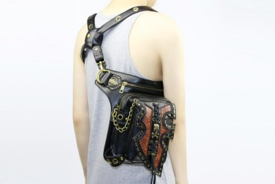 Custom Steampunk Thigh Waist Belt Bag Vintage Steampunk Leg Bag Shoulder Crossbody Backpack Multifunctional Bag