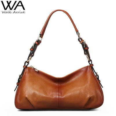 Vintage Genuine Leather Handbag Women Fashion Shoulder Bag Designer Retro Style Cowhide Hobo Female Purse Bolsas Femininas
