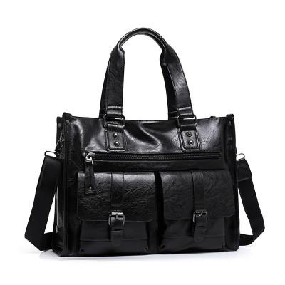 Brand Men Leather Briefcase High Quality Business Man Handbag Vintage Men Messenger Laptop Bag Casual Men Shoulder Bag 2 Colors