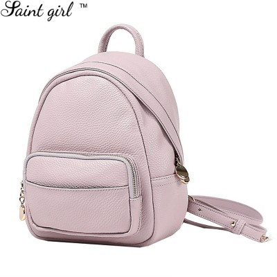 Brand Mini Backpack Women 2016 New Fashion PU Leather Small Backpacks Solid School Bag For Teenager