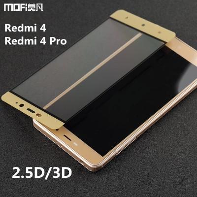 Xiaomi redmi 4 glass redmi 4 pro screen protector tempered glass MOFi original full cover Xiaomi Mi Redmi 4 protective glass 5.0