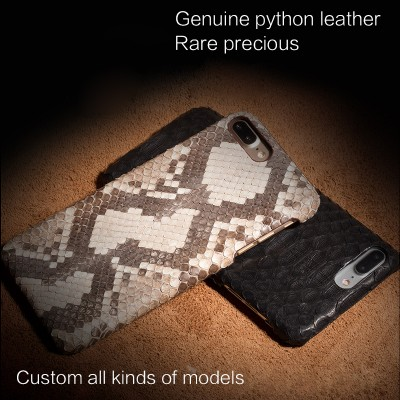 "Phone Cases For xiaomi mi max 2 Genuine leather Case For Xiaomi max2 case 6.44"" Luxury Python Leather Texture Back Cover"