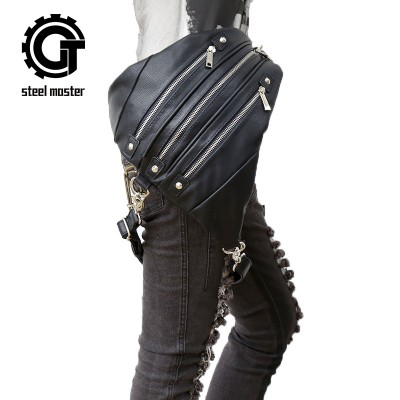 Steelsir Retro Rock Steam Punk Messenger Shoulder Backpack Gothic Fashion Mobile Phone Men And Women Travel Shoulder Bags
