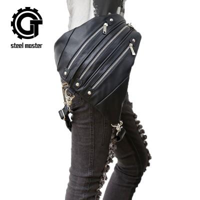 Steelsir Retro Rock Steam Punk Messenger Shoulder Backpack Gothic Fashion Mobile Phone Men And Women Travel Shoulder Bags