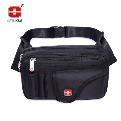 COOL Fanny Pack Famous Brand Men's Waist Packs Nylon Waterproof Black Travel Bag Fanny Pack Belt bag For Money and Cellphone