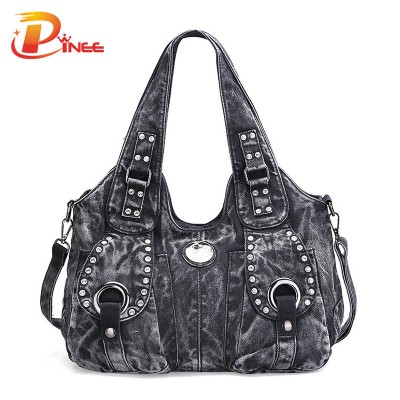 Vintage Denim Shoulder Handbags Women Bag Vintage Denim Handbag Denim Jean Messenger Bag