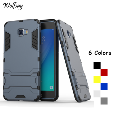 Wolfsay For Cover Samsung Galaxy C7 Pro Case C7010 Robot Armor Phone Case For Samsung Galaxy C7 Pro Cases For Samsung C7 Pro