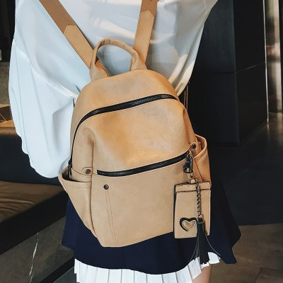 2019 new women female Waterproof backpack shoulder bag womens small backpack College wind PU Leather backpack for girls