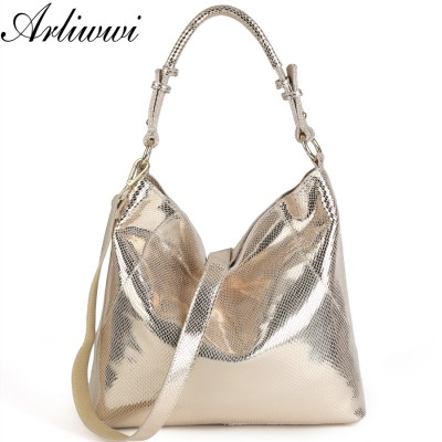 Genuine Leather Luxury Serpentine 100% Real Cow Leather Elegant Multi Functional Big Shoulder Bags For Women B2836