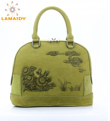 2019 genuine leather brand designer women shell bag high quality ladies bags Embossed casual style