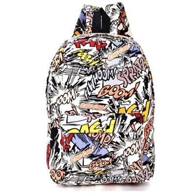 Hippie 2017 Canvas Backpacks Student School Bag Cartoon Print Rucksack Travel Pack Laptop Graffiti Bolsa Mochila Escolar XA1065C