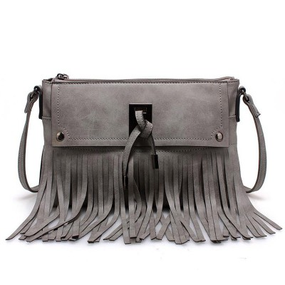 Vintage punk Tassel Shoulder Bags PU Leather Handbags women Messenger Bag Casual tote bag small crossbody bags