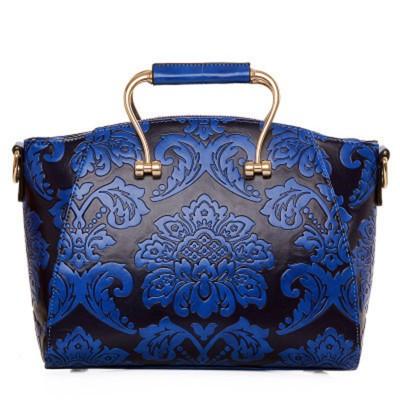 Luxury Chinese Carve Patterns Floral Shell Women Bag Women's Vintage PU Leather Handbags Designer Handbags High Quality