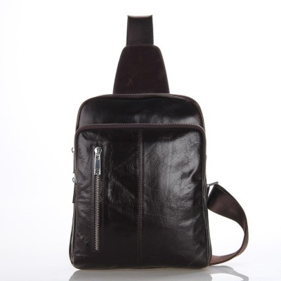 7215C J.M.D Vintage Leather Fashion Men Coffee Popular Chest Bag Waist Packs
