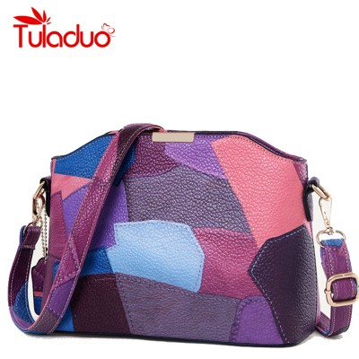 Women Patchwork Handbag Small Shoulder Messenger Bags Leather Designer Party Bags High Quality Crossbody Bag Clutch Purse Bolsas