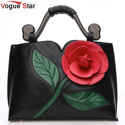 Vogue Star 2019 Bags handbags women famous brands women leather handbag Vintage women messenger bags flowers shoulder bag LS375