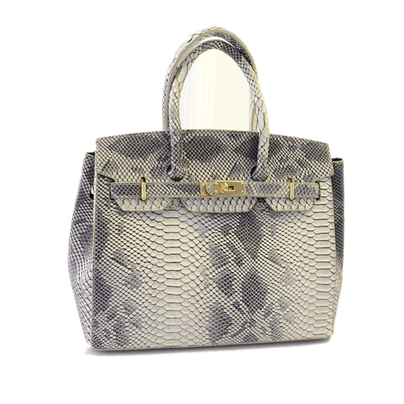 05619223e891 Famous Branded Luxury Rivet Serpentine Leather Tote Hand Bag ...