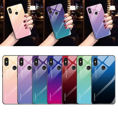 Gradient Tempered Glass Case For Xiaomi Mi 8 Lite Mi A2 Lite A1 Mix 3 Redmi 6 Pro 5 Plus 6A Note 5 6 Pro 7 6 Pocophone F1 Case