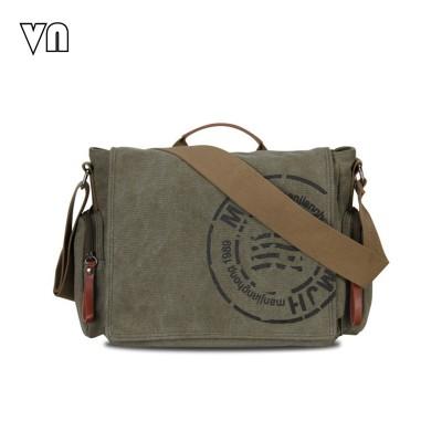 2019 VN Vintage Men's Messenger Bags Canvas Shoulder Hand Bag Fashion Men Business Crossbody Bag Printing Brief Travel Handbag