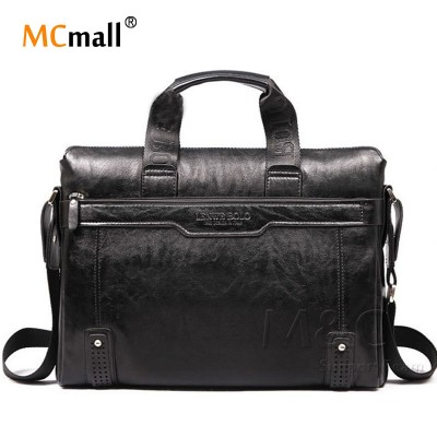 2019 New Genuine Leather Bag For Men Briefcase Handbag Men Shoulder Bag office Bag leather laptop briefcase SD-175