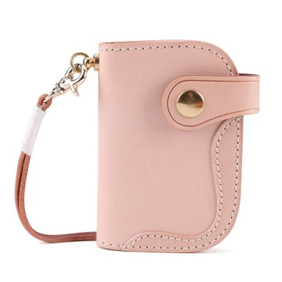 New Zipper Housekeeper Key Pouch Holder Keychain Genuine Leather Men Key Wallet Vintage Style Keys Organizer Card Holder