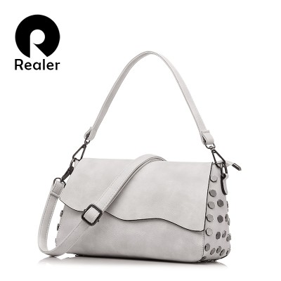 REALER brand women handbag with sequins casual satchel shoulder bag female fashion party tote bag large crossbody bags