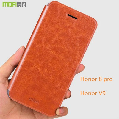 Huawei honor 8 pro case cover Huawei honor V9 case flip case MOFi original PU leather + TPU kickstand holder