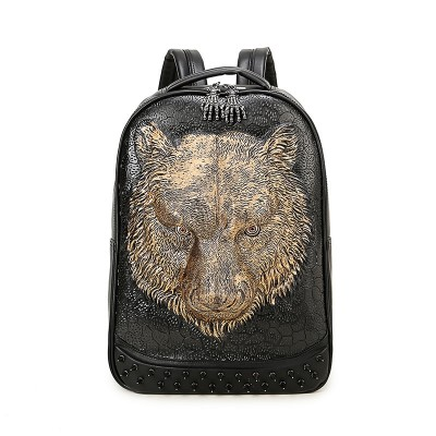 2019 3D Leather Backpacks Vintage Gothic Steampunk Unique backpack cool bag steampunk fashion Shoulder Bags Men Women PU Leather Animal Punk Rivet Laptop School Bags for boys girls