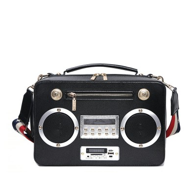 Fun Popular Cheap Fashion Unique Purses and Handbags With Chain Strap, Multi-media music player womens handbag sing crossbody bags with battery and remote contro!