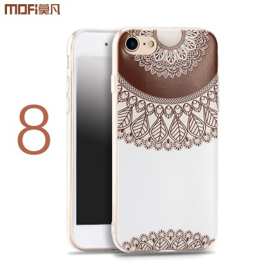 MOFI Phone Case For iphone 8 plus case for iphone 8 case i8 cover soft pattern silicone flower Bohemia flamingo bird brown ethnic style colorful