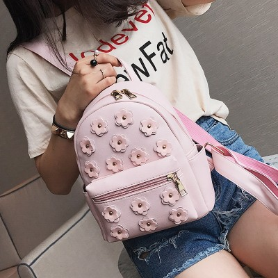 Women Flower Cute Mini Bag Printing Backpack Female Korean School Bags for Teenagers Girls Small Backpack