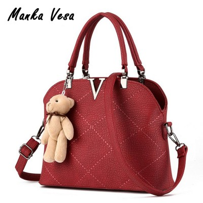 Manka Vesa women leather handbags famous brands women bags purse messenger bags shoulder bag high quality handbag pouch