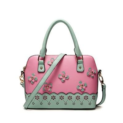 Flower Women Tote Women PU Leather Handbags Fashion Shell Women Shoulder Small Messenger Bags Bolsas Femininas Candy Colors Bag