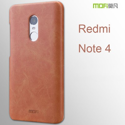 2016 Xiaomi Redmi Note 4 Pro Prime case MOFi original xiaomi redmi note 4 case cover back PU leather luxury capa coque funda 5.5