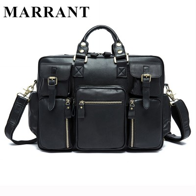 MARRANT Genuine Leather Men Bags New Male Briefcase Man Business Laptop Bag Men Crossbody Shoulder Handbags Men's Messenger 8812