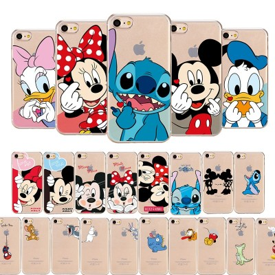 Cartoon Phone Case For iPhone Soft Cute Mickey Mouse Minnie Mouse iPhone XS MAX XR  X 7 8 Plus 6 6S Plus 5 SE Case
