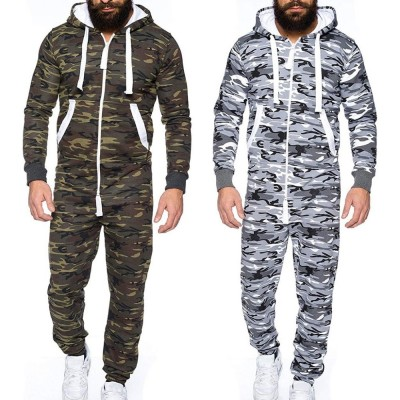 Centuryestar Tmall Quality Men's Camouflage Pajamas Onesie One Piece Hooded Mono Pijama Hombre Combinaison Pyjama for Adults Men