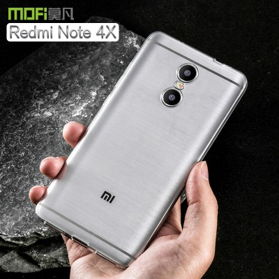 Redmi note 4X case cover MOFi original 2017 xiaomi redmi note 4X cover soft TPU back transparent sillion case capa coque funda