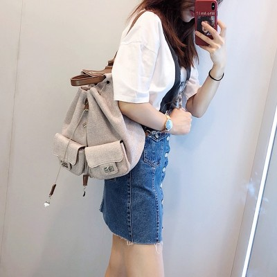 2019 Brand New Women Backpack Casual Canvas Female backpacks school bag Soft Small Womens backpack for teenage girls