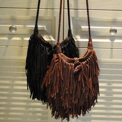2017 Rushed Limited Solid Women Genuine Leather Tassel Fringed Messenger Bag Boho Hippie Gypsy Fringe Vintage Feminine Shoulder