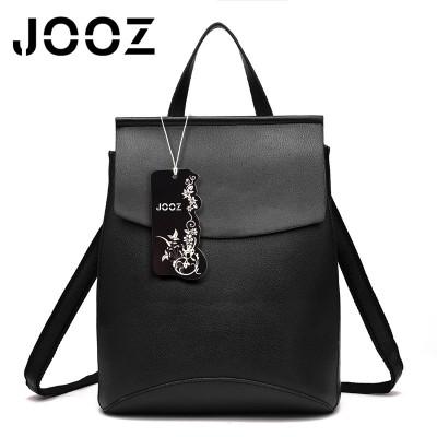 Jooz Brand Fashion Simple Stylish Women PU leather School Bag Leather Backpack Shoulder Bag Mini Backpack for Women Girls Female