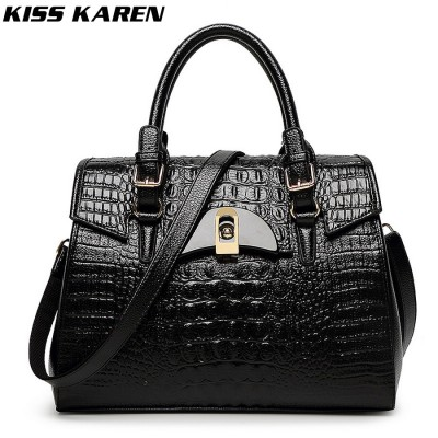 Luxury Fashion Alligator Pattern PU Leather Women Shell Bag Women's Shoulder Bags Lady Handbags Sexy Crocodile Totes Bolsas