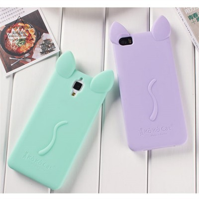 Luxury Soft Lovely Silicon Case For Xiaomi Mi5 Mi4C Mi4 Mi3 Cover 3D Cartoon Cat Design TPU Cover Cases For Xiaomi Mi5 Mi 4C 4